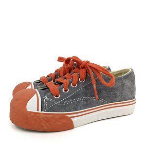 Morgan & Milo Suede Sneakers Orange/Gray Toddler